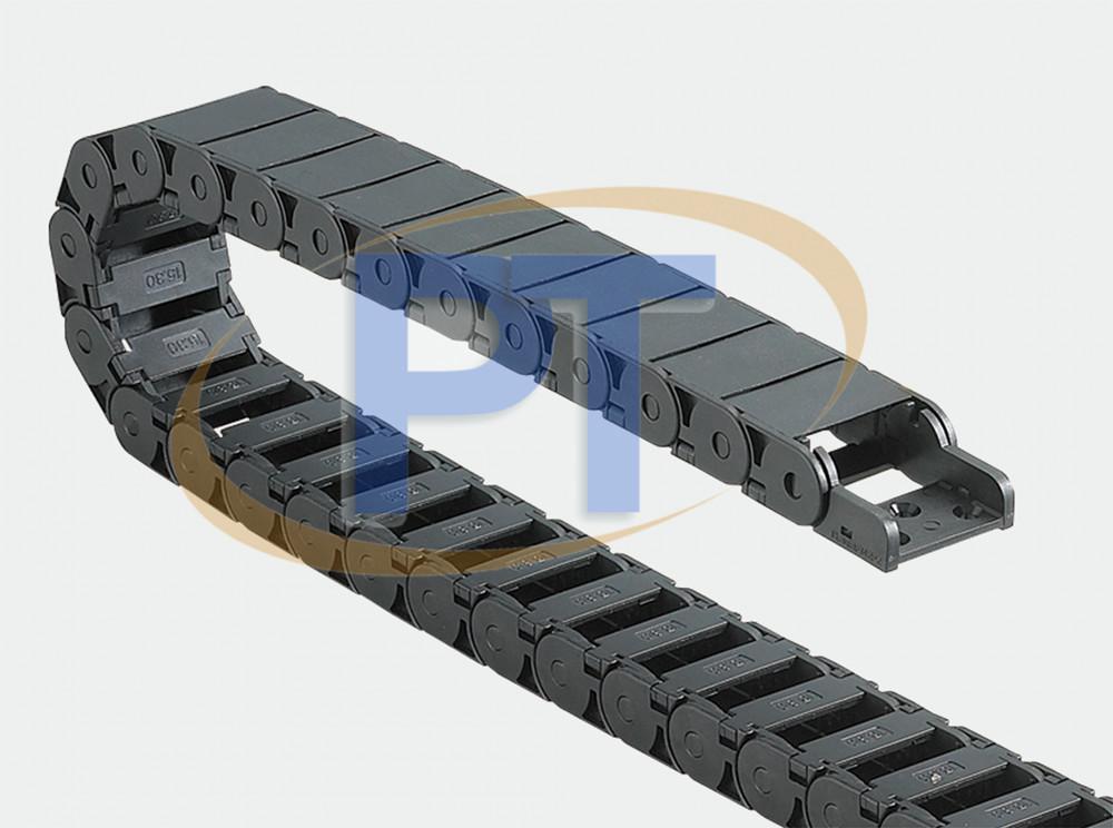 Xích nhựa cuốn cáp seri J15BF.2.N – Nửa Kín Bên Trong Mở
