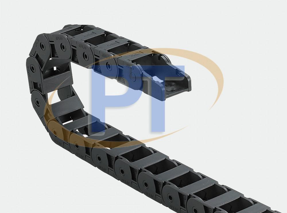 Xích nhựa cuốn cáp seri J18Q.2.W – Cầu Ngoài Mở