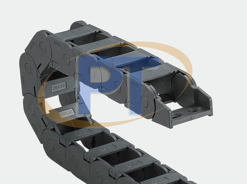 Xích nhựa cuốn cáp seri J25Q.3.N – Cầu Bên Trong Có Thể Được Mở