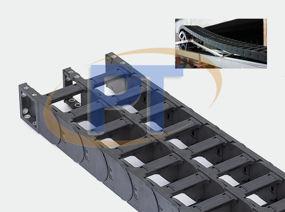 Xích nhựa cuốn cáp seri JT60Q.1.S – Mở Ở Cả Hai Bên